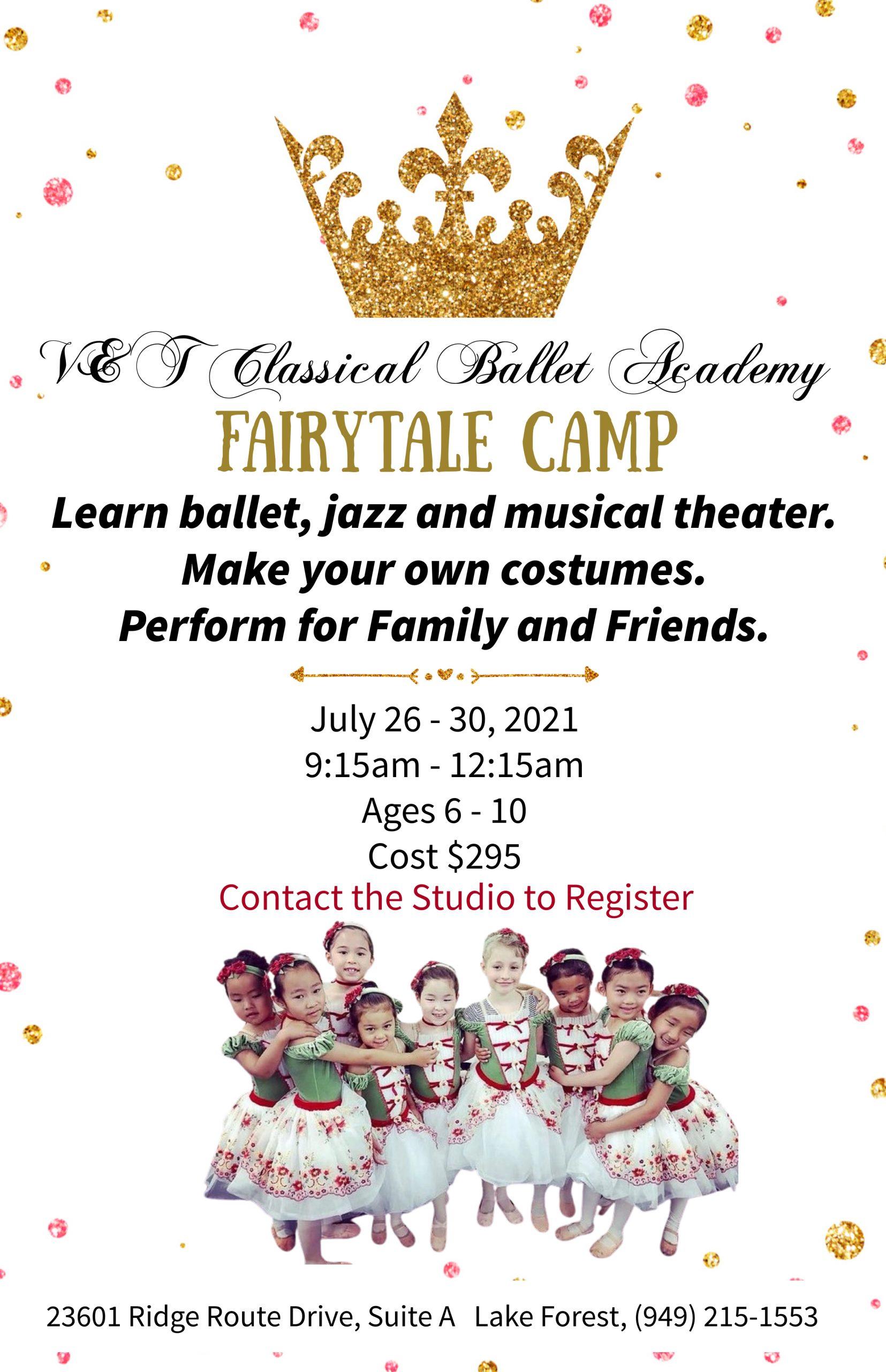 V & T Dance Academy Fairytale Camp